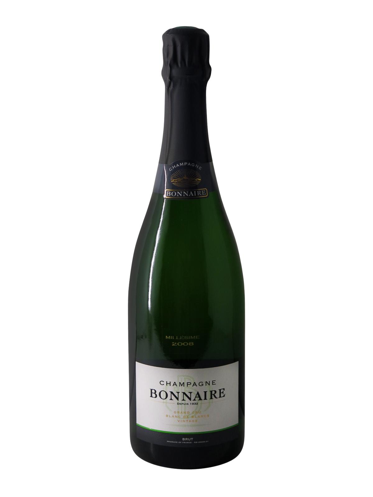 Champagne bonnaire millesime 2008